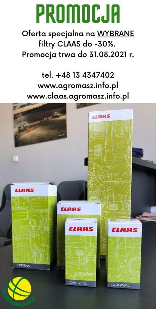 Promocja na filtry claas dostępna w firmie Agromasz Serwis Sp. z o.o.