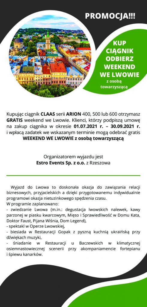 Warunki udziału w promocji kup ciągnik odbierz weekend we Lwowie.